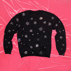 Crystal Snowflake Crewneck | Full Coverage