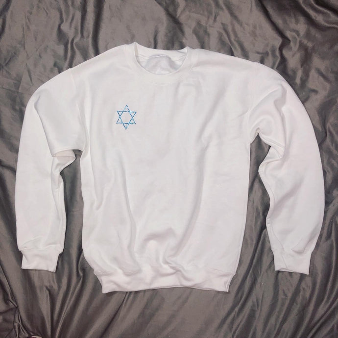 Crystal Star Of David Crewneck