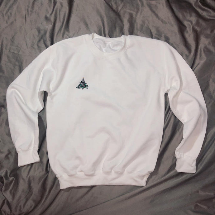 Crystal Christmas Tree Crewneck