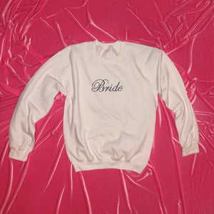 "Crystal ""Bride"" Crewneck 