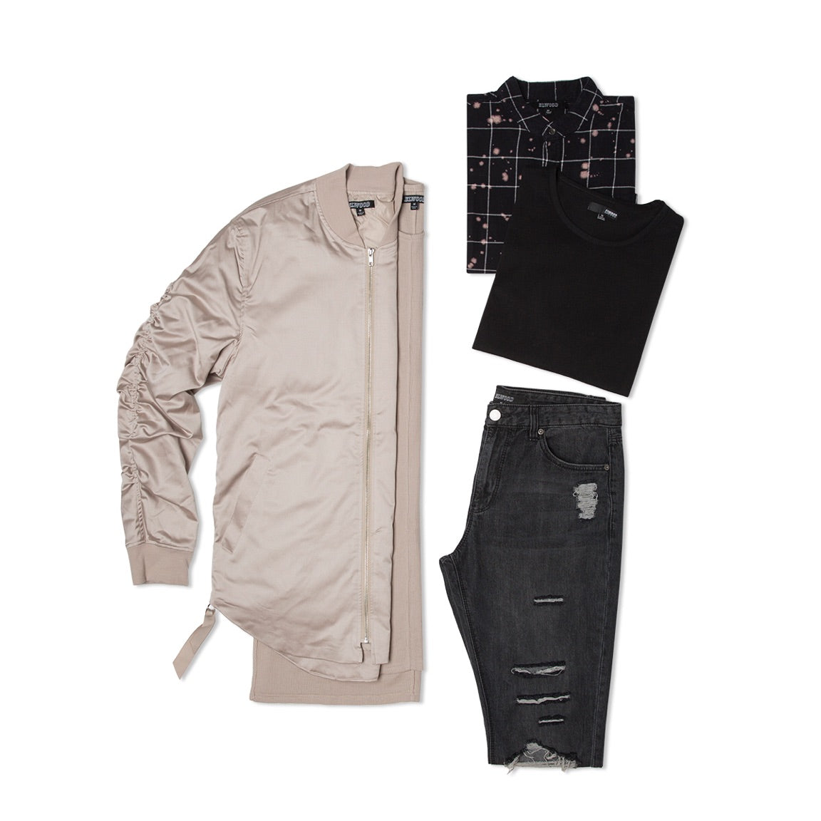 elwood clothing hot box 12 curved hem bomber jacket and more