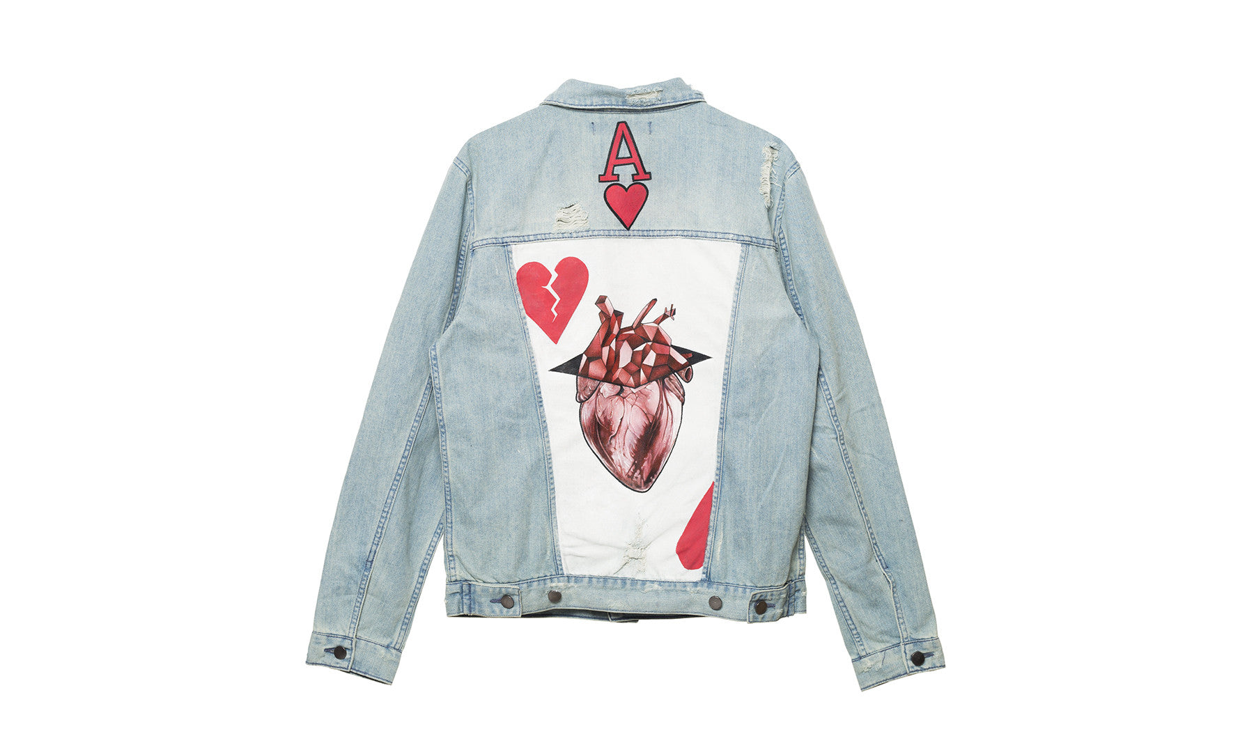 elwood clothing painted denim trucker jacket