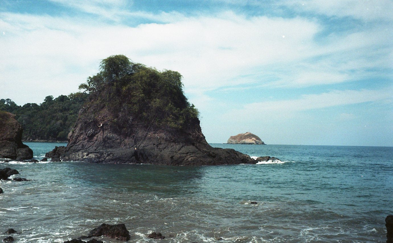 beautiful ocean scene in government controlled area in costa rica