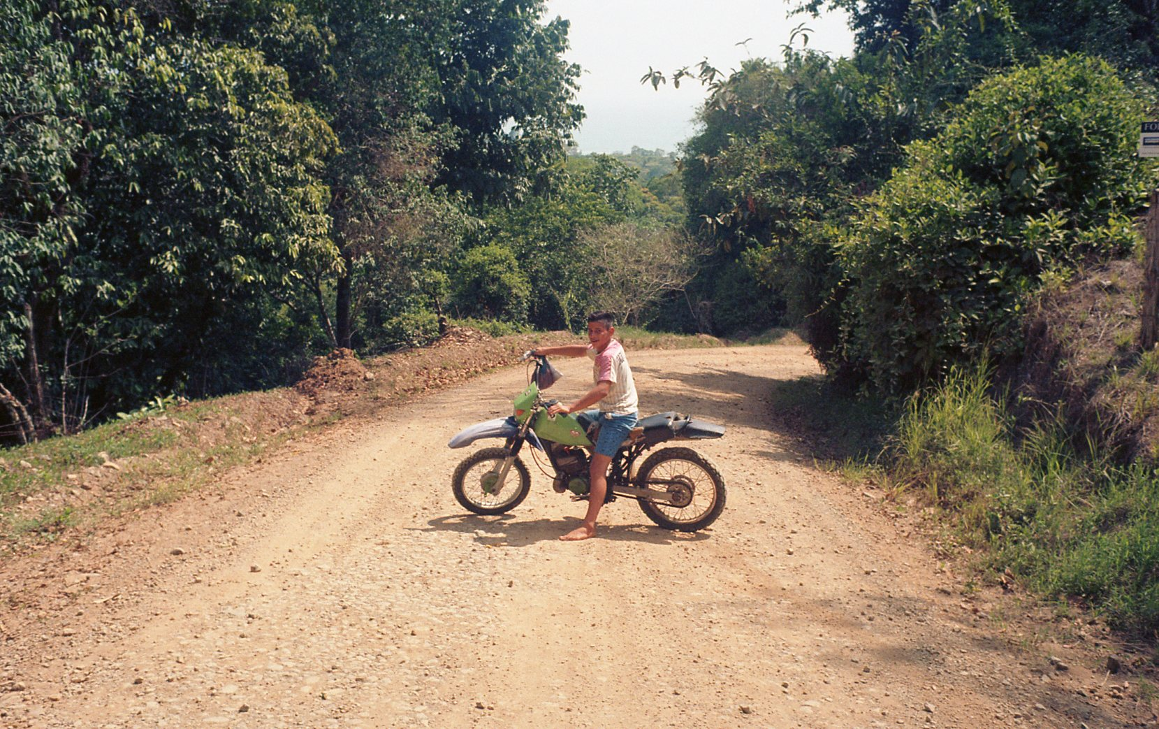young boy dirt bike in Costa Rica