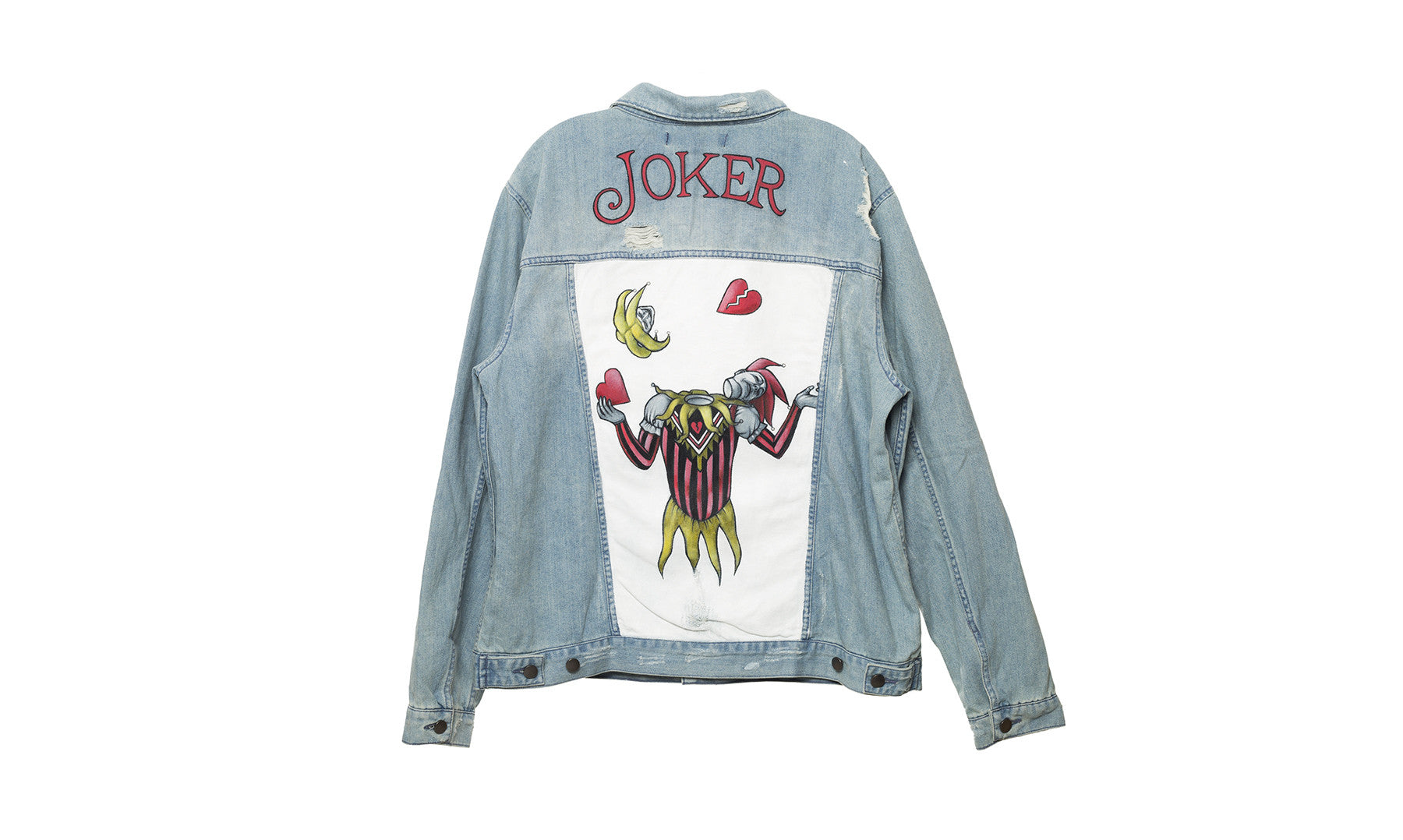 elwood clothing joker painted denim jacket