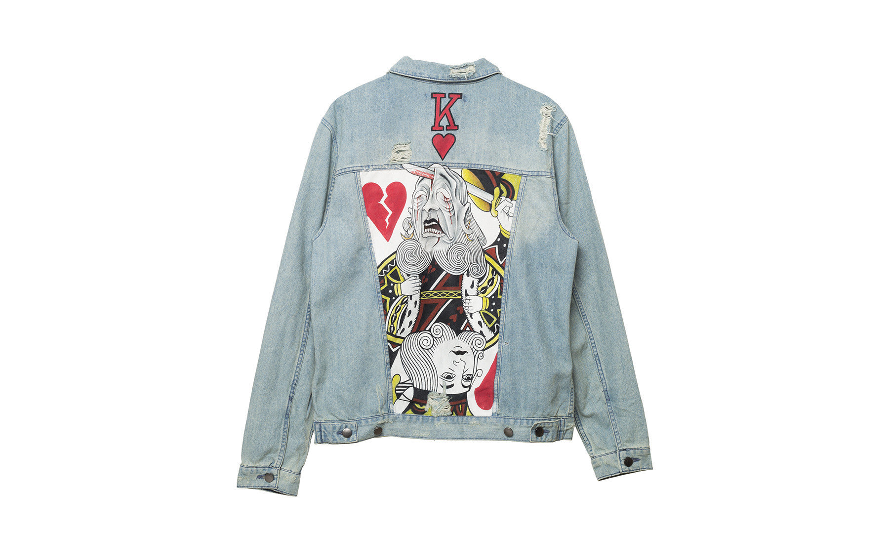 suicide king elwood painted denim jacket