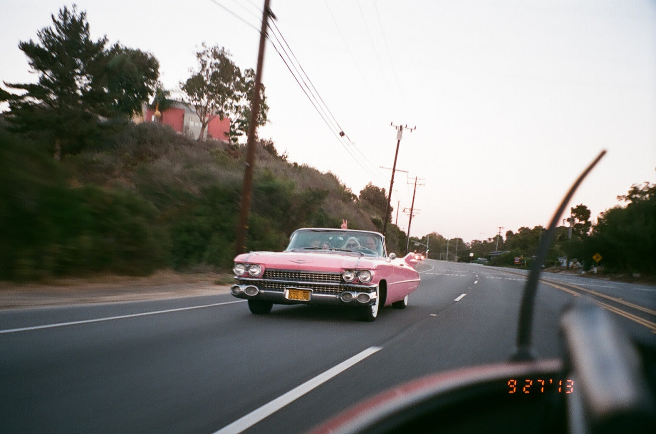 vintage car in Malibu CA