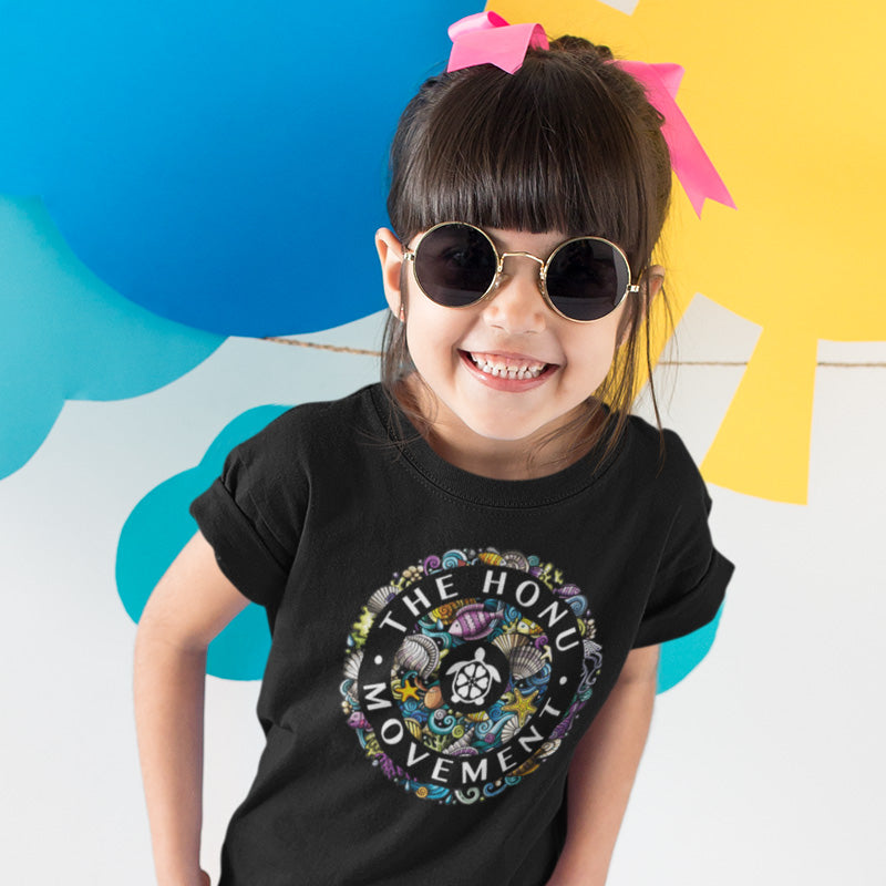 Kids Honu Movement Supporter Bio T-Shirt. Unisex.