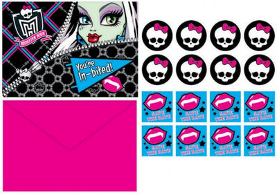 Monster High Postcard Invitations