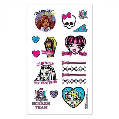 Monster High Tattoo Favors