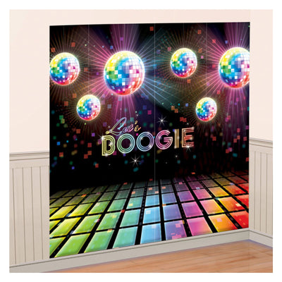 70's Disco Party Decorations Scene Setter Hanging Photo Booth Props