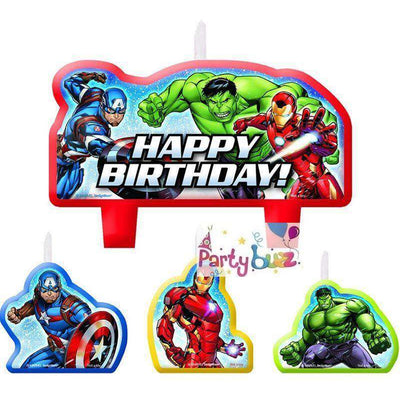 Avengers Epic Happy Birthday Cake Candle Set - Party Buzz Party Supplies