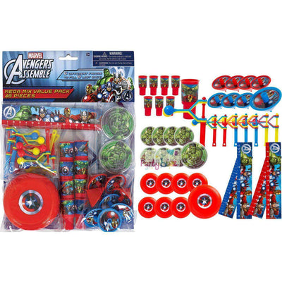 Avengers Mega Favor Mix Value 48 Pack - Party Buzz Party Supplies