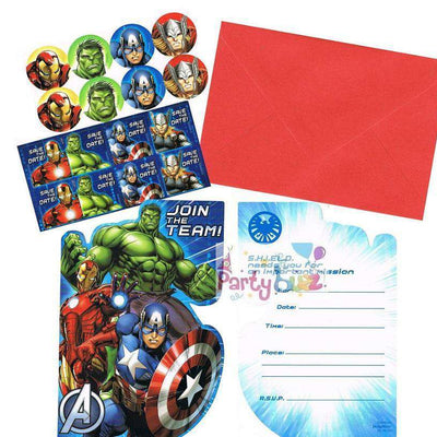 Avengers Kids Party Invitations Pack of 8 - Party Buzz Party Supplies
