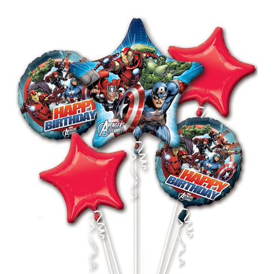 Avengers Superhero Happy Birthday Balloon Bouquet Kit - Party Buzz Party Supplies