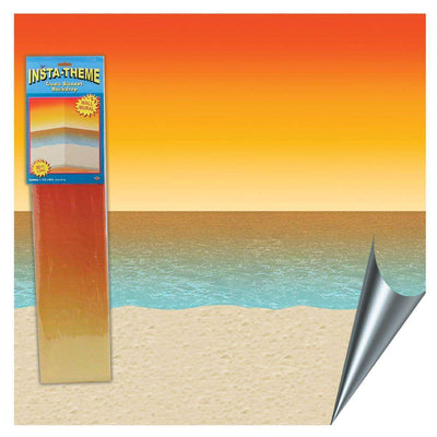 Tropical Sunset Ocean Scene Setter Decoration Room Roll - Party Buzz Party Supplies