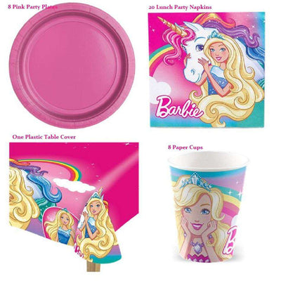 Barbie Dreamtopia Unicorn Party Pack - Value Pack For 8