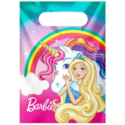 Barbie Birthday Party Dreamtopia unicorn 8 Plastic Loot Bags
