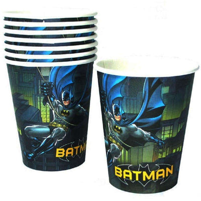 Batman Birthday Party Supplies Cups Pack of 8 - Party Buzz Party Supplies
