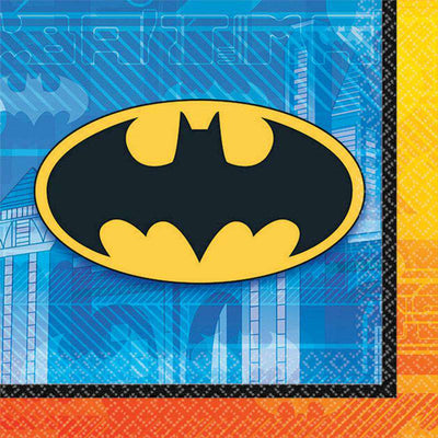 Batman Party Beverage Snack Napkins Pack of 16 - Party Buzz Party Supplies