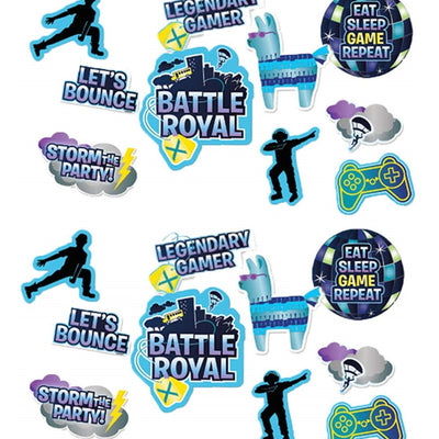 Battle Royal Fort/N Birthday Decorations 12 Hanging Assorted Cutouts