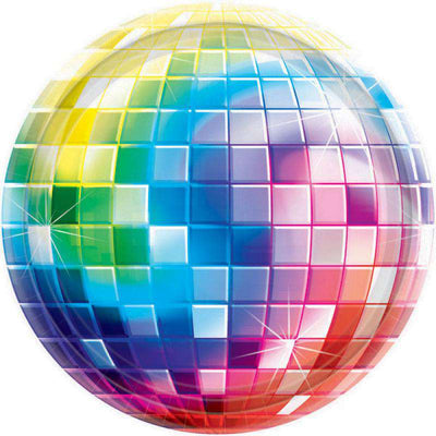 Disco Ball Party Large Paper lunch Plates 8 - Party Buzz Party Supplies