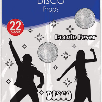 70's Disco Party Decorations Scene Setter Props Set of 22