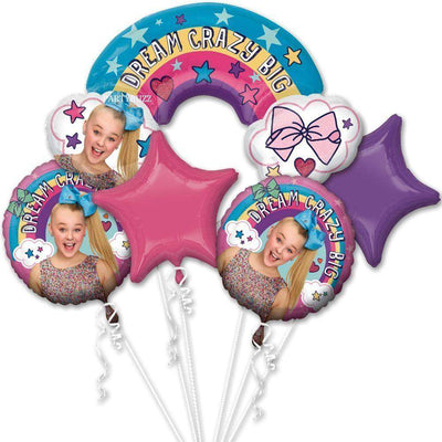 Jojo Siwa Birthday Party Dream Crazy Big Rainbow Balloon Bouquet - Party Buzz Party Supplies