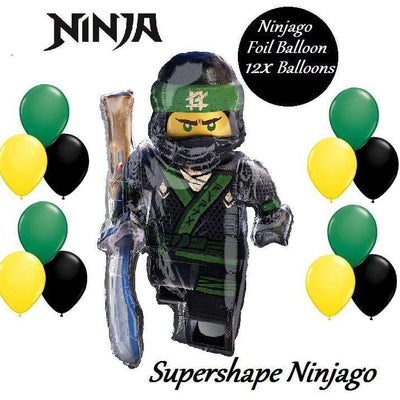 Lego Ninjago Lloyd Supershape Foil Birthday Party Balloon - Party Buzz Party Supplies