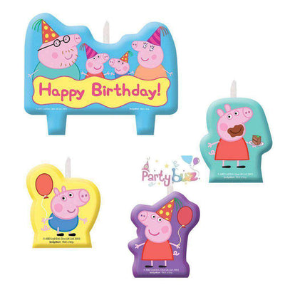 Peppa Pig Birthday Molded Candle Cake Set - Party Buzz Party Supplies