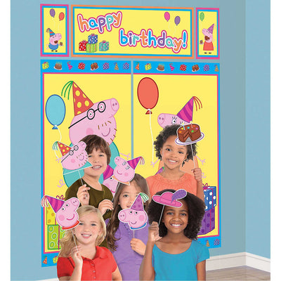 Peppa Pig Kids Party Decoration Wall Scene Setter - Party Buzz Party Supplies
