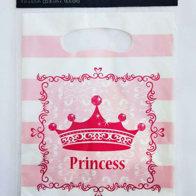 Princess Royalty Birthday Party Pink Favor Loot Bags 8 - Party Buzz Party Supplies