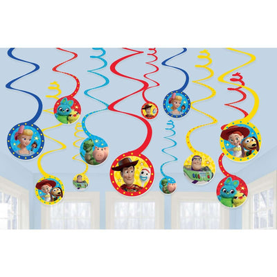 Toy Story 4 Party Hanging Decorations Swirl Cutouts - Party Buzz Party Supplies