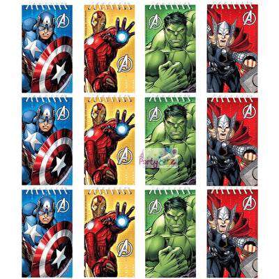 Avengers Party 12 Paper Notepad Party Favors - Party Buzz Party Supplies