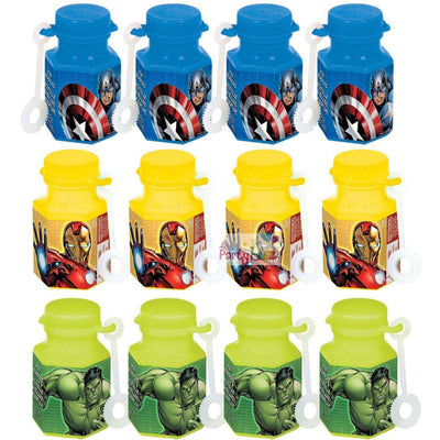Avengers Party Mini Bubble Bottle Favors - Party Buzz Party Supplies