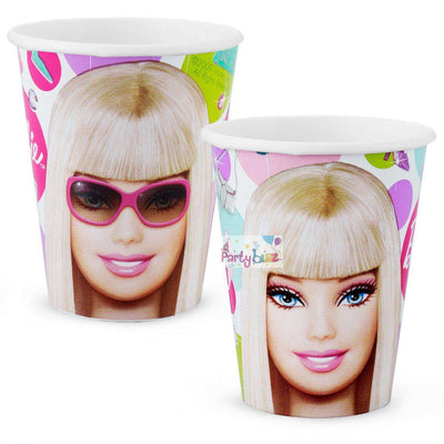 Barbie Doll Birthday Party 8 Paper Cups - Party Buzz Party Supplies