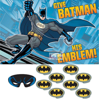 Batman Birthday Party Game Poster Stickers Blindfold - Party Buzz Party Supplies