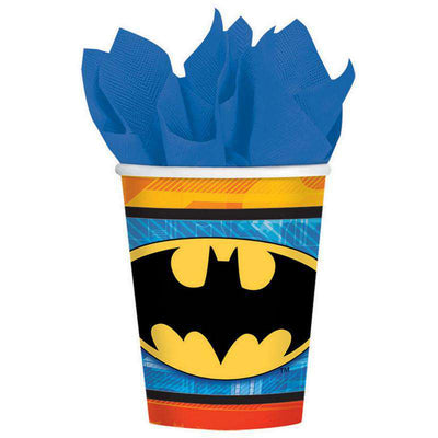 Batman Party Superhero Bat Spotlight Cups 8 - Party Buzz Party Supplies