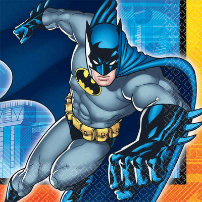 Batman Party Lunch Napkins Pack of 16 - Party Buzz Party Supplies
