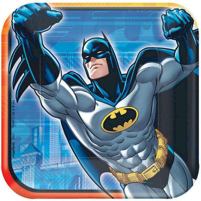 Batman Birthday Party Dessert Plates 8 - Party Buzz Party Supplies