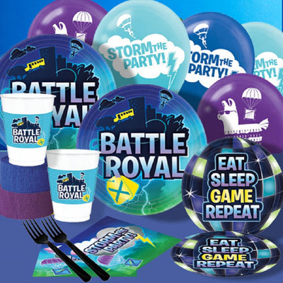 Battle Royal Party Supplies Kids Gaming Select Required Products