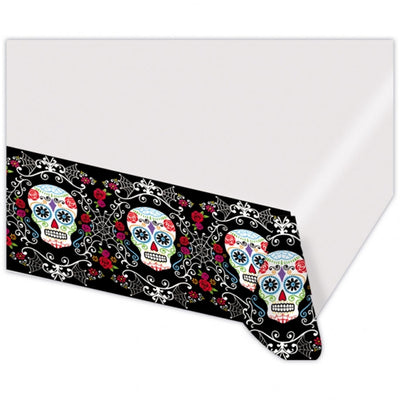 Day Of The Dead Halloween Scary Party Decoration Plastic Tablecover