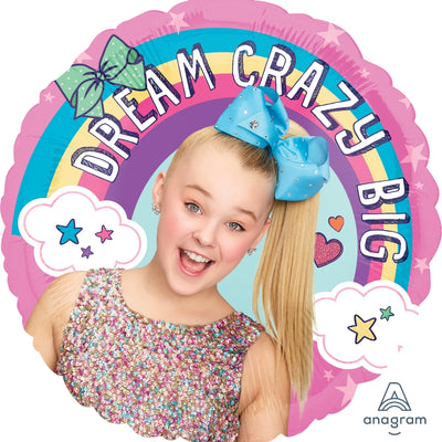 Jojo Siwa Rainbow Dream Crazy Big 45cm Foil Birthday Balloon - Party Buzz Party Supplies