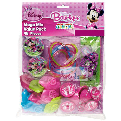 Minnie Mouse Birthday Party Supplies Favors Mega Value Pack - Party Buzz Party Supplies