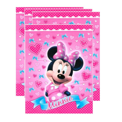 Minnie Mouse Party 8 Pack of Pink Lolly Loot Treat Favor Bags.