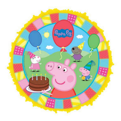 Peppa Pig Birthday Party Pull a String Pinata - Party Buzz Party Supplies