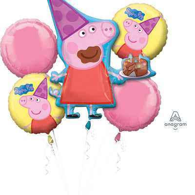 Peppa Pig Party Happy Birthday Decoration Balloon Bouquet Kit - Party Buzz Party Supplies