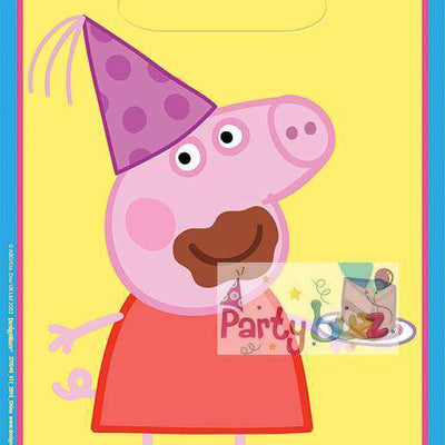Peppa Pig Party Supplies Loot Bags Pack of 8 - Party Buzz Party Supplies