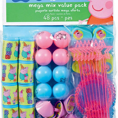 Peppa Pig Party Mega Mix Value Pack 48 Pieces - Party Buzz Party Supplies
