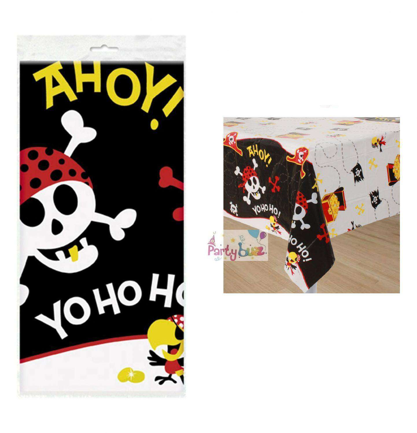 """Pirate Table Cover Birthday Party Supplies 54/""""x84/"""" Table Cloth Tablecloth"""